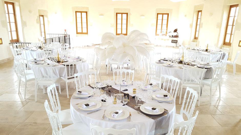 table des mariés décoration gatsby