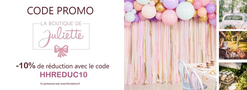 Code Promo La Boutique de Juliette
