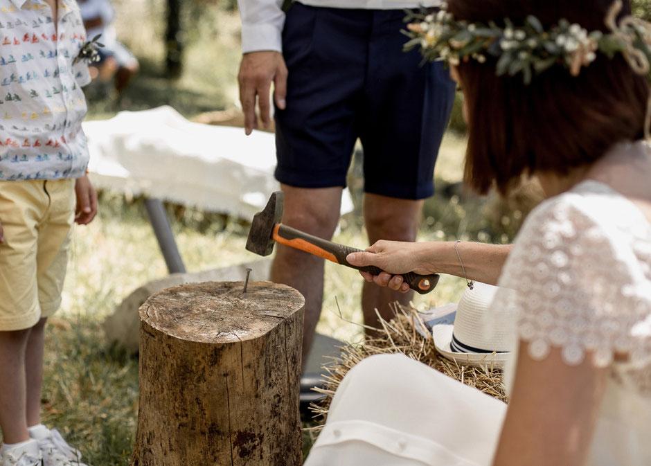 animations jeux en bois buche mariage champêtre rétro