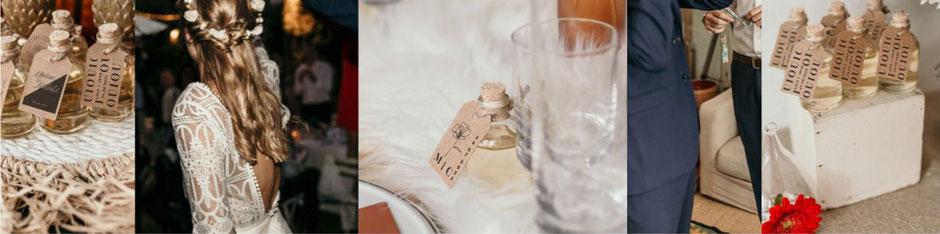 cadeaux mignonettes rhum mariage