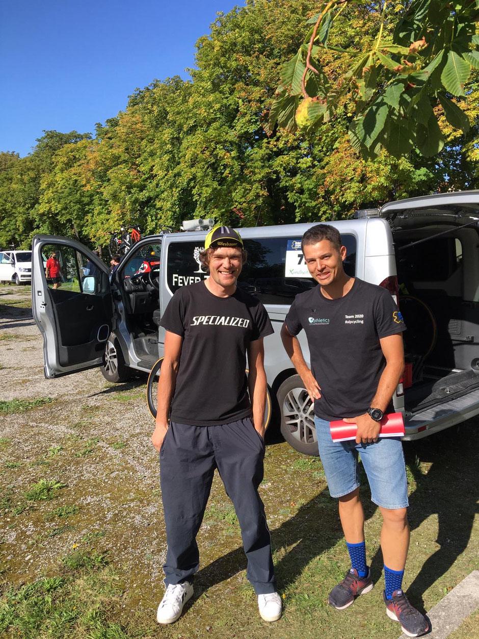 Christoph Strasser und Berni Rauch race across niederösterreich 2020 #ran2020