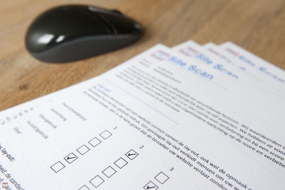 Een site report is een prima eerste stap naar een betere website © TekstEnPlaat.nl