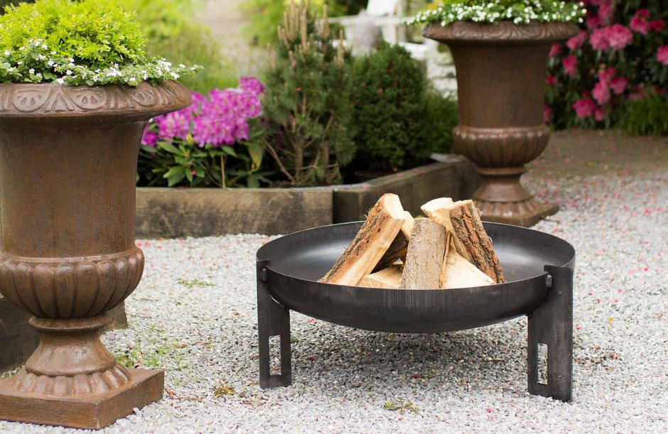 metalfisters Classic Design runde Feuerschale