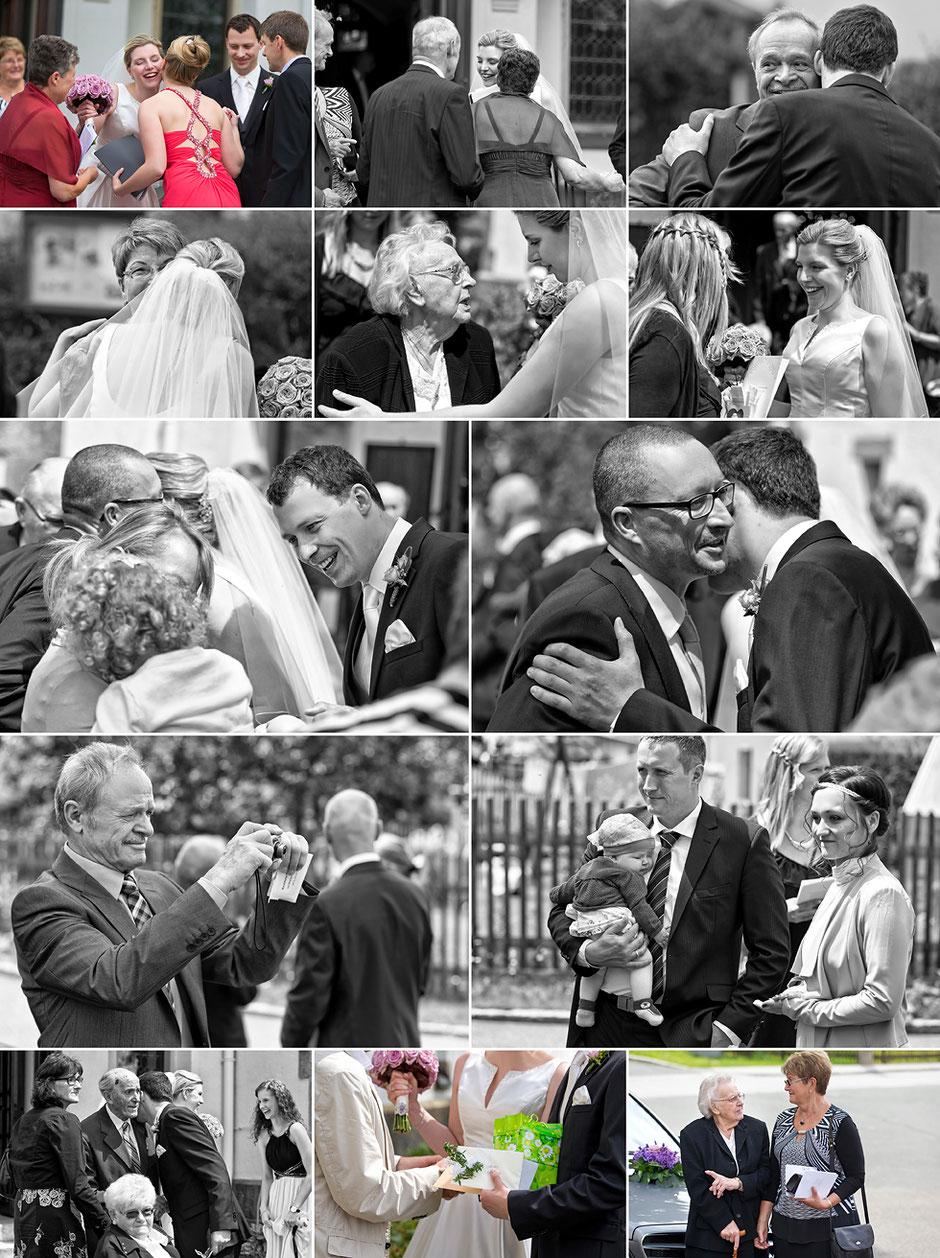 gratulationen, gäste, Hochzeitsgäste