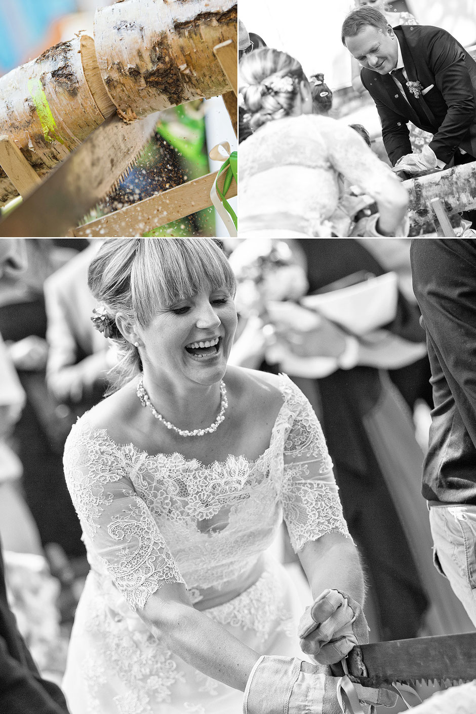 baumstammsägen, hochzeitsbrauch, Hochzeit oberwiesenthal, Hochzeit erzgebirge