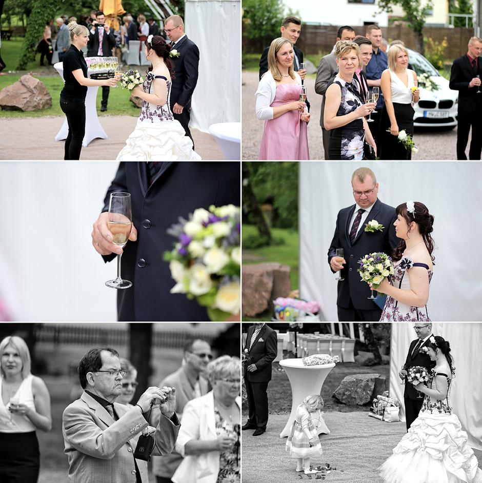 sektempfang, feiern im Schmiedelandhaus in Greifendorf, Hochzeit feiern in rossau