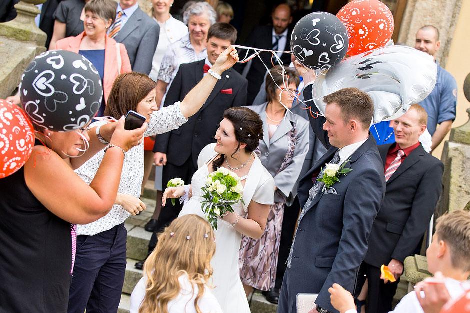 Glückwünsche Hochzeit, Luftballons, hochzeitsfotos Standesamt thum
