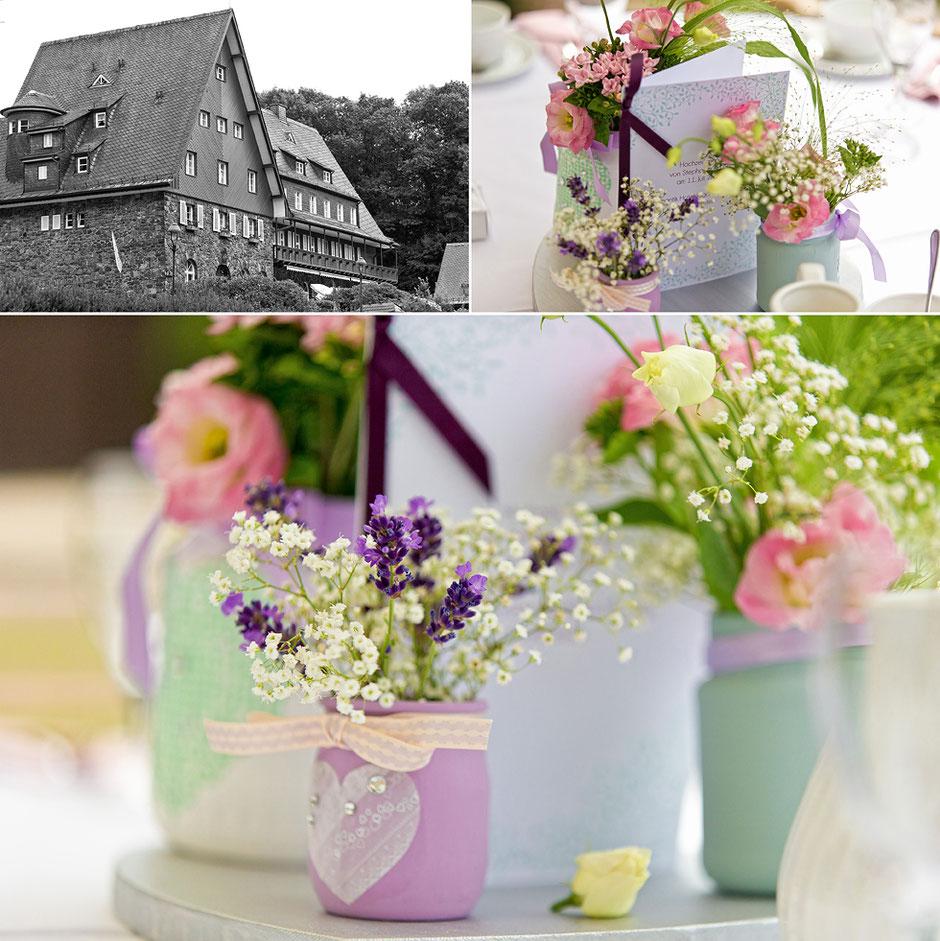hochzeit hartenstein, hartenstein, romantikhotel hartenstein, romantikhotel waldidyll, romantikhotel waldidyll hartenstein, tischdeko