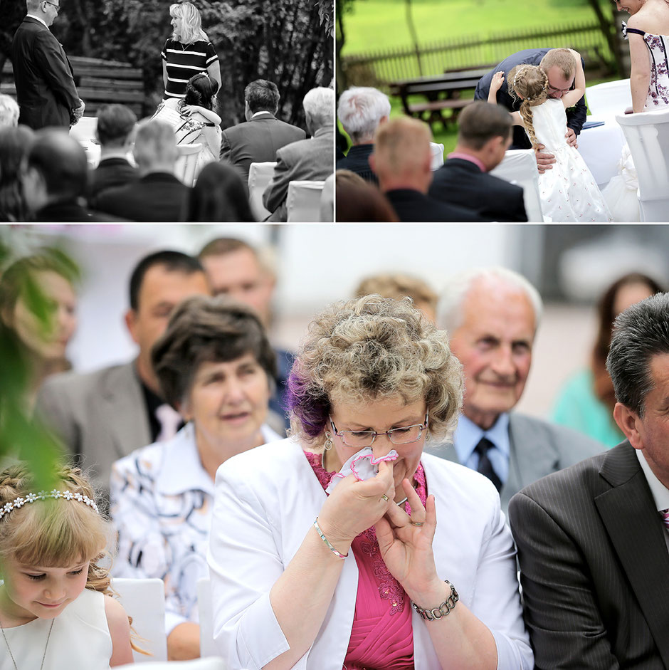 Emotionen Hochzeit, Freudentränen Hochzeit, Trauung im freien, Schmiedelandhaus in Greifendorf