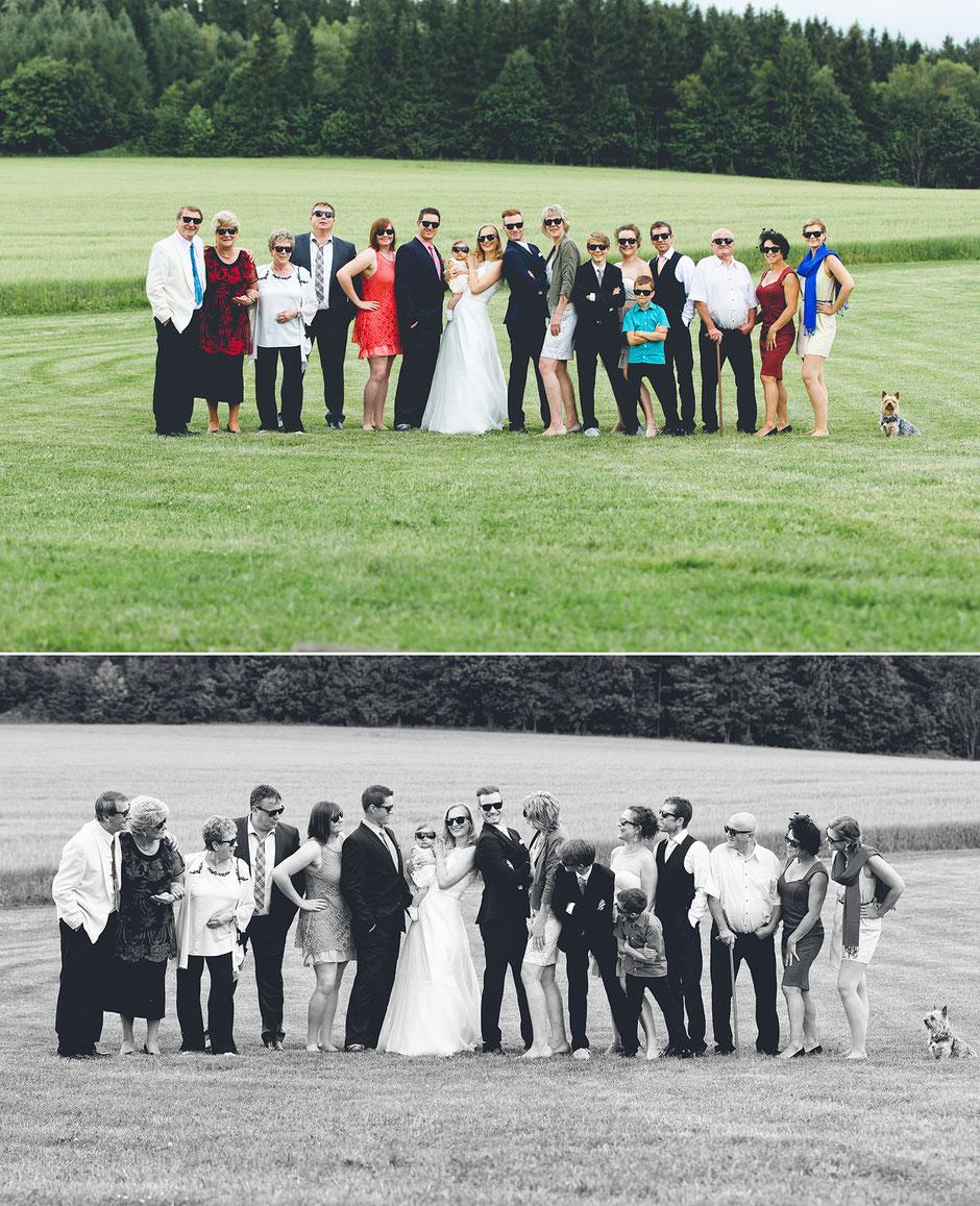 lustige gruppenfotos, coole gruppenfotos, hochzeitsgesellschaft, familienfotos, sachsen, erzgebirge, freiberg, flöha