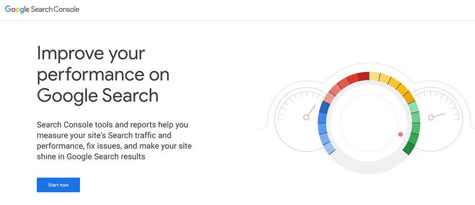 art marketing website seo google search console