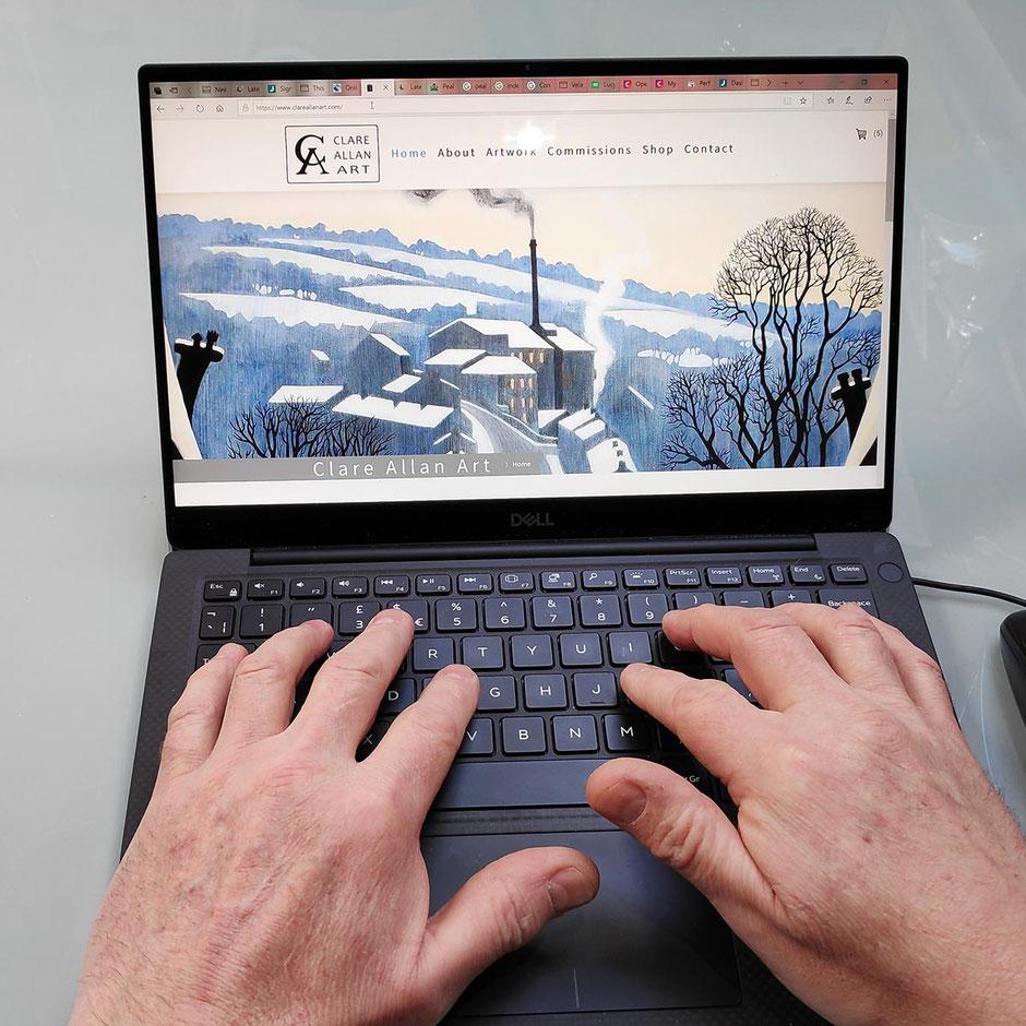 art marketing online hands at work