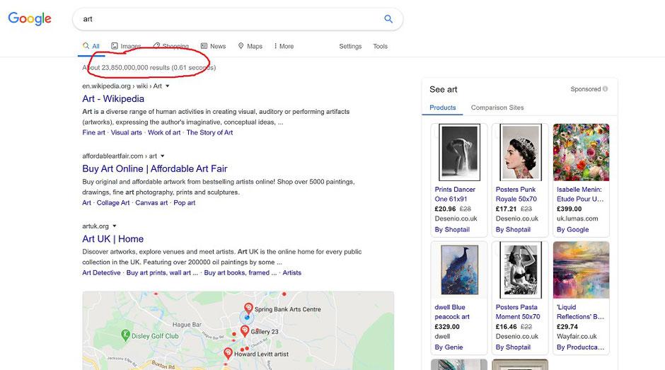 seo search engine optimisation art craft photography website