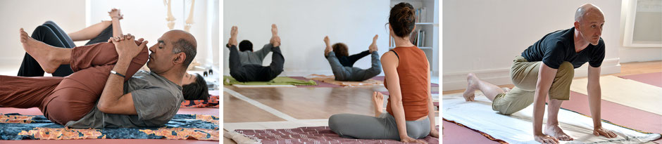 Postures de Hatha Yoga : Préparation au rocking - Arc - Salut au Soleil