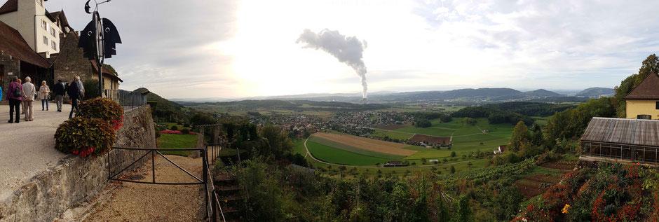 22.09.18 Panoramasicht vom Schloss Wartenfels über die Gegend