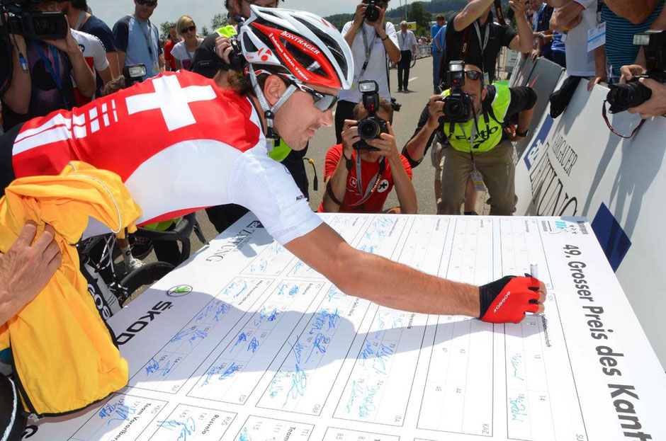 Die Nummer 11 trägt Fabian Cancellara