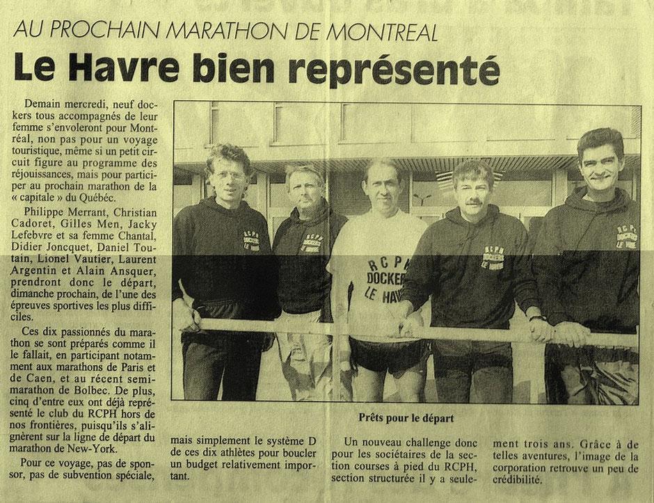 Marathon de Montréal septembre 1994