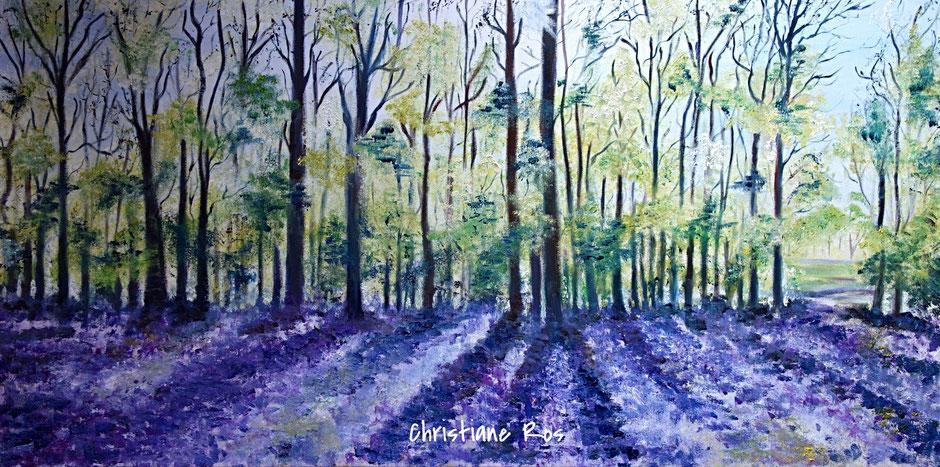 gemaltes Bild Wald im Frühling © Christiane Ros