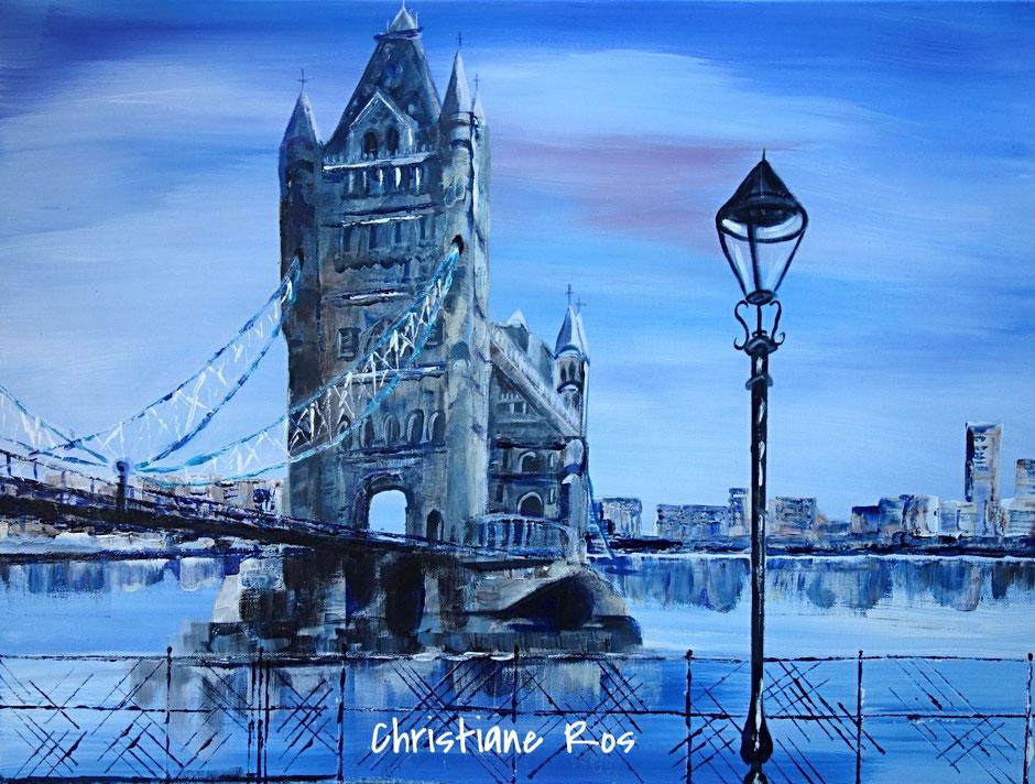 gemaltes Bild Tower Bridge London © Christiane Ros