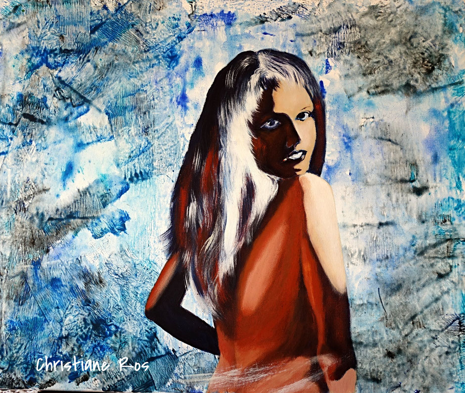 Bild Porträt Acryl © Christiane Ros