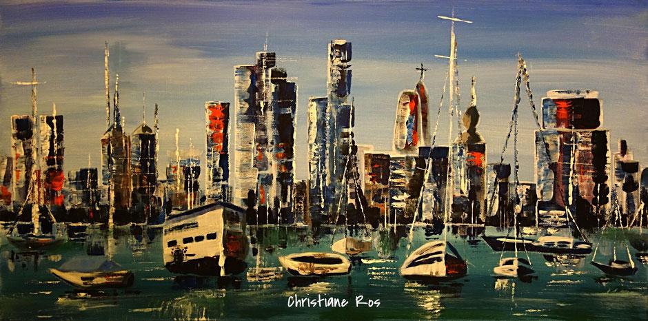 gemaltes Bild Panama Hafen © Christiane Ros