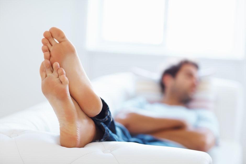Fersensporn Füße hoch legen