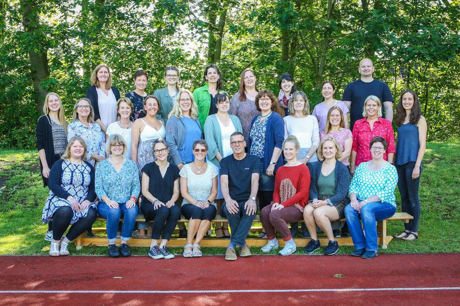 Pädagogisches Personal, Sekretärin und Hausmeister im Juni 2019