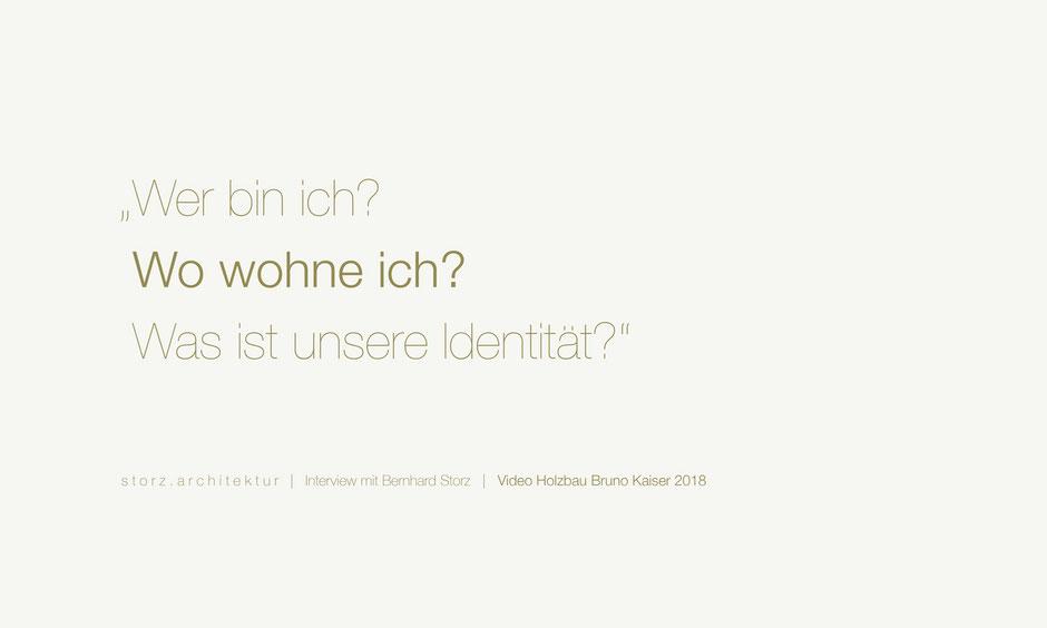 Interview Bernhard Storz storz.architektur Freiburg Schwarzwald Holzbau Bruno Kaiser