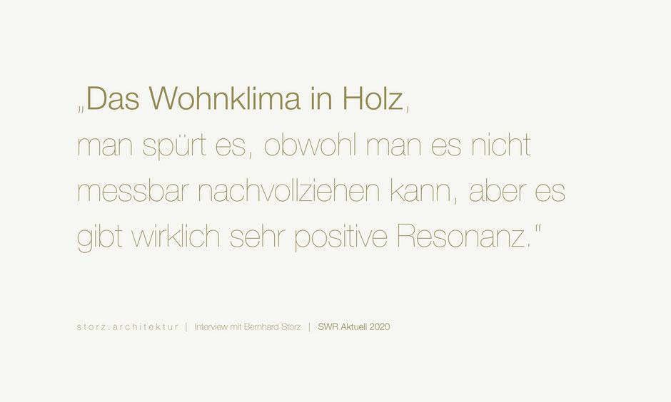 SWR Aktuell Interview Bernhard Storz storz.architektur Freiburg Schwarzwald Holzbau
