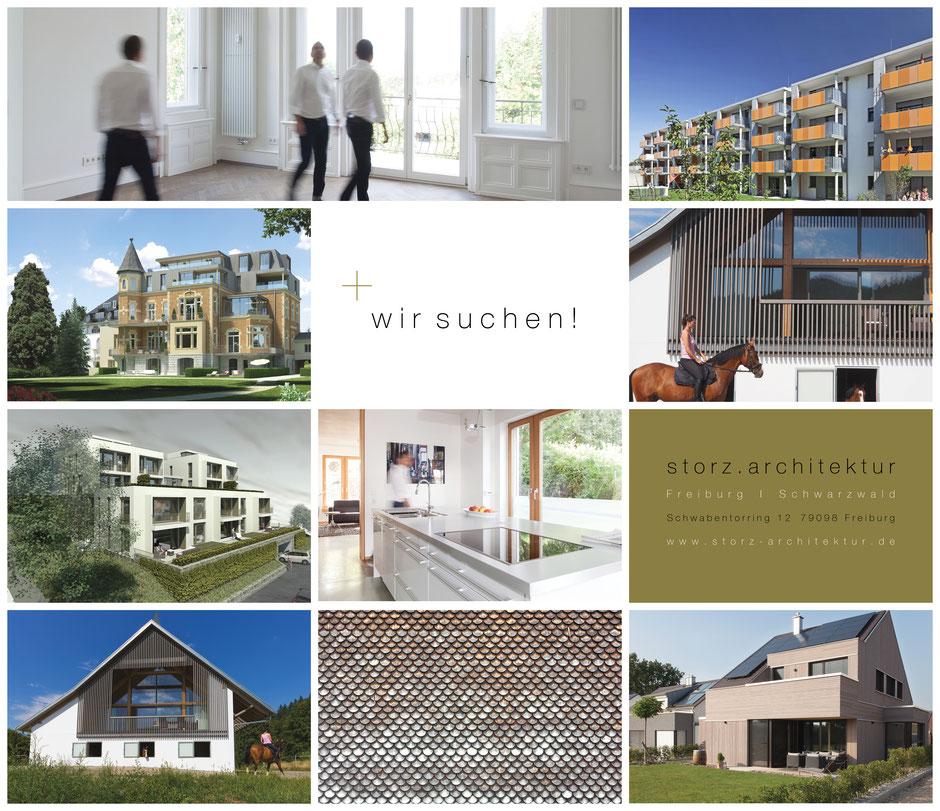 Wir suchen Stellenausschreibung storz.architektur Freiburg Schwarzwald Architektur