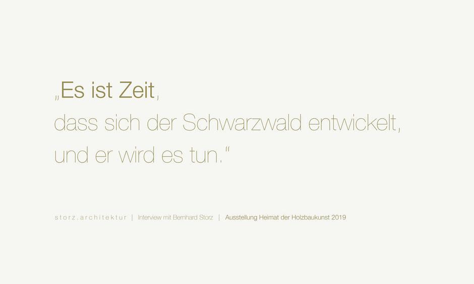 Interview Bernhard Storz Heimat der Holzbaukunst storz.architektur Freiburg Schwarzwald Holzbau