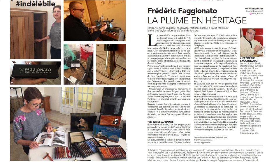 article-presse-faggionato-stylo-luxe-var-matin-toulon-paca