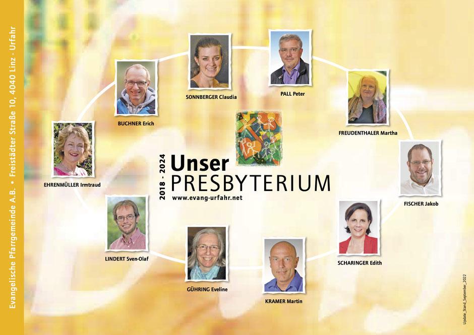 Presbyterium, Stand Jänner 2021