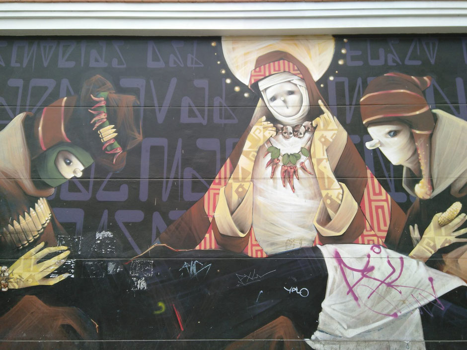 Photo of a mural taken in central Lima's streets in February 2020 (Source IF).
