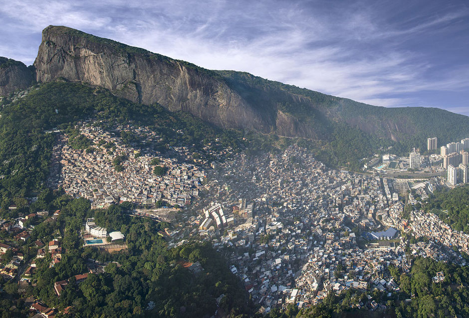Rocinha, Rio's biggest favela, in 2014 (Wikipedia)