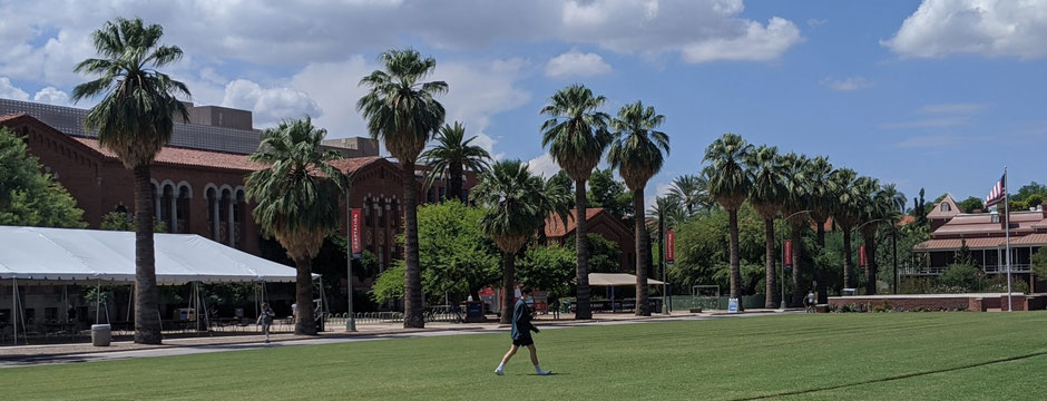At the University of Arizona (UA): few students, masks and tents for dining halls. A slow start of the semester, but still a start…