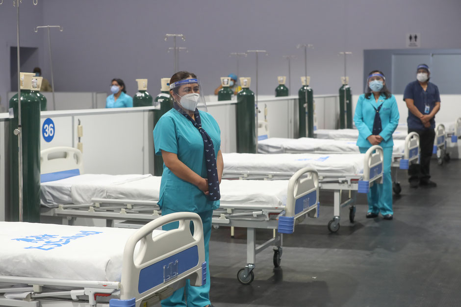 Healthcare center for Covid-19 patients in Perou (Source Flickr, August 2020)