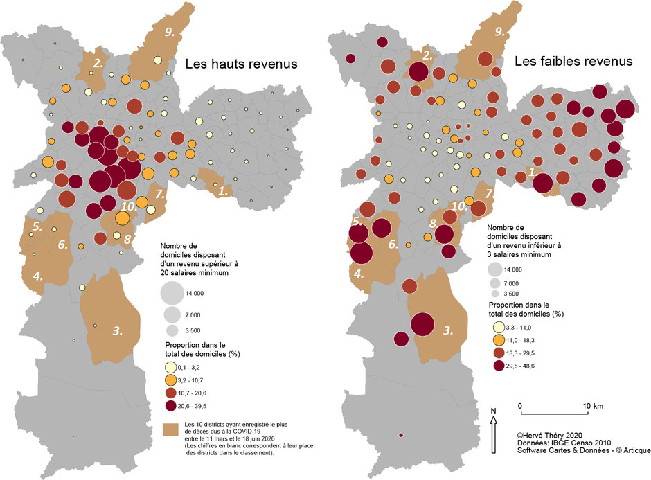 Disparities in salary and deaths in São Paulo because of Covid-19