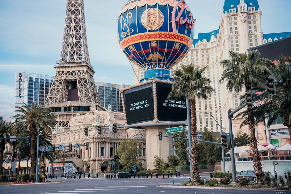 Las Vegas Strip, strangely empty, April 2020. (Source: Facebook)