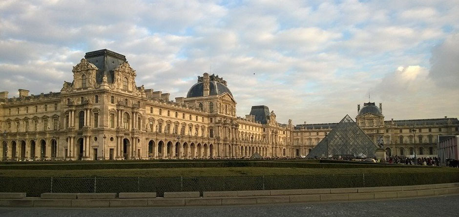 The Louvre Museum, a 12th century building that started as a forteresse and is now an art museum. What is its most famous painting? The Mona Lisa.