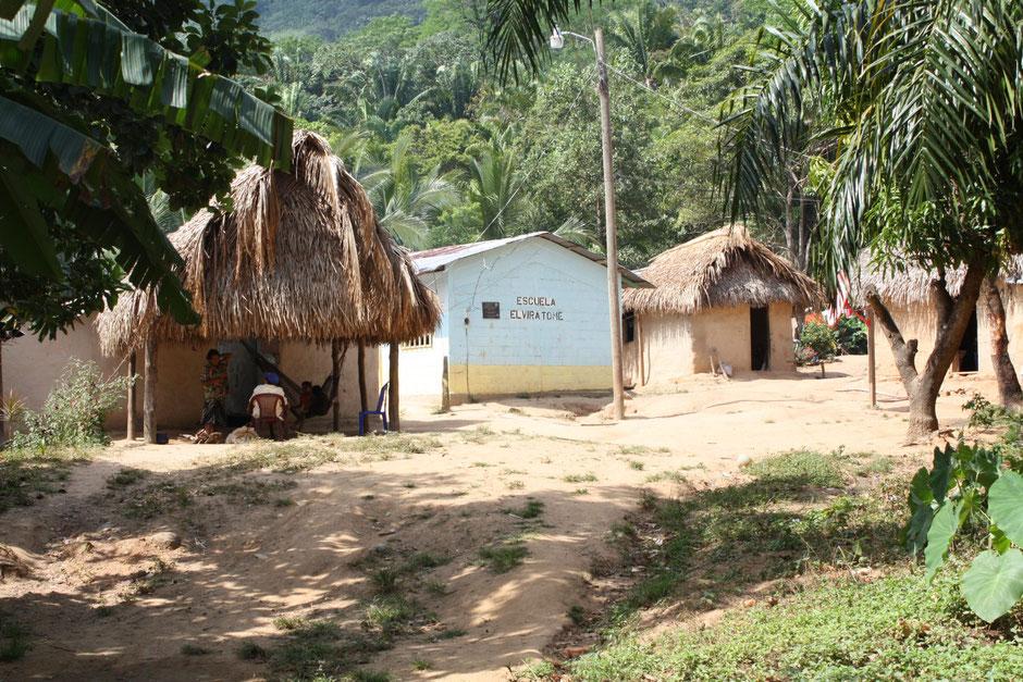 Photo: Center of Moradel village (2017, photography by Claudine Chamoreau).