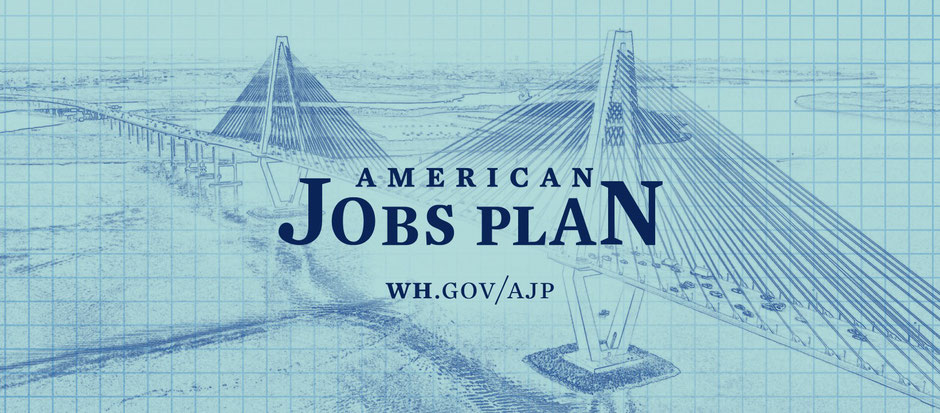 Called the American Jobs Plan, Joe Biden's new fight is a plan to rebuild infrastructures (source whitehouse.gov)