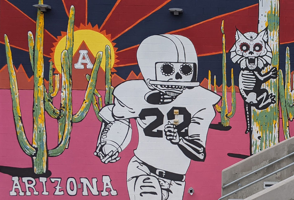 This Mexican inspired mural that decorates the entrance of the UA stadium ironically takes on a particular meaning for the 2020 championships.