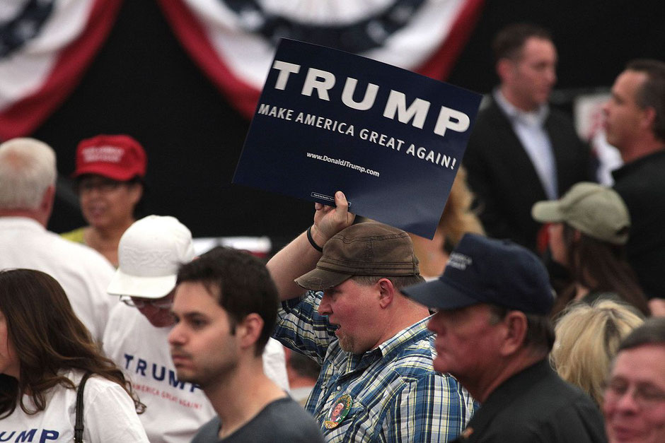 More rural and more white: Donald Trump supporters