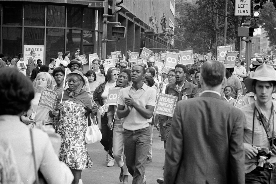 Poor People's March at Lafayette Park (1968) (Source: Wikicommons)