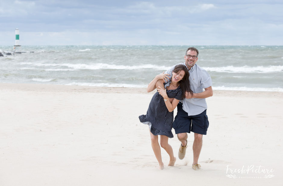 Lake Michigan Couple Photography Session