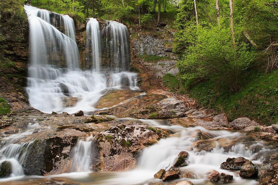 Wasserfall in der Weißbachschlucht im Berchtesgadener Land