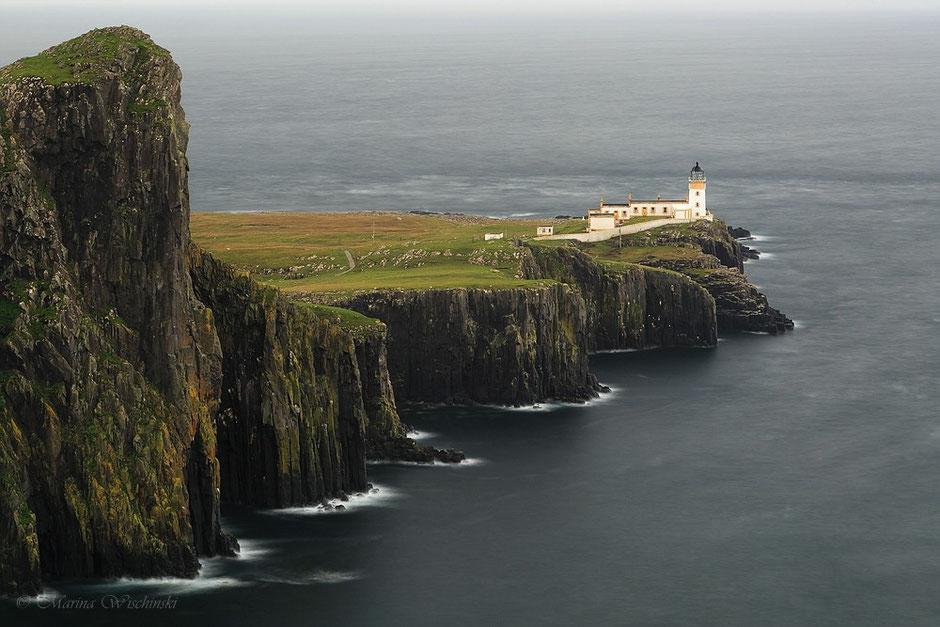 Neist Point Lighthouse, einer der zahlreichen Leuchttürme Schottlands