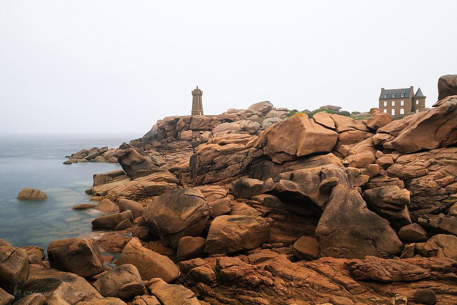 Phare de Ploumanach, cote de granit rose, Bretagne, Frankreich, Cote de Amor, rosa granitküste,