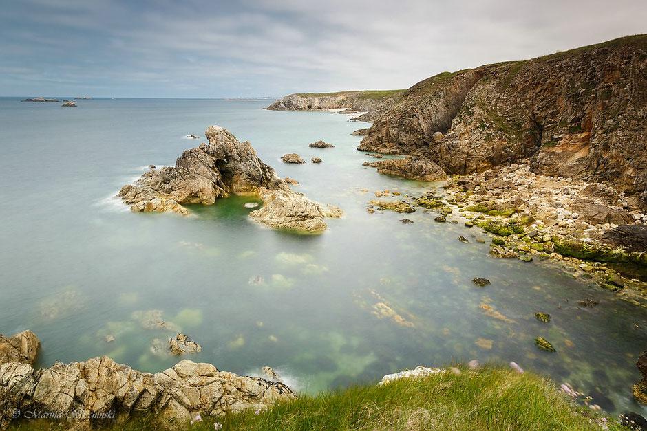 Küste der Bretagne nahe Plouarzel, Pointe de Corsen, Finistere, Frankreich,